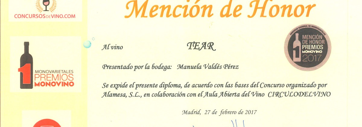 premios-mono-vino-2017-mencion-de-honor-tear